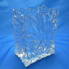 "Rosenthal Studio-Linie Germany Crystal Crinkle Bag Glassware Design Vase 7"" XLNT"