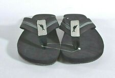 Tommy Bahama Men's Size 9 MEDIUM Taheeti Sandal Thongs Flip Flops Shoes Black
