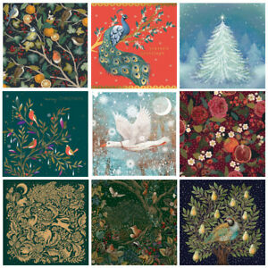 Luxury Boxed Christmas Cards, Embossed with Gold Foil, 8 Cards and Envelopes