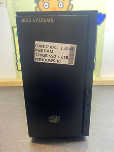 CUSTOM i7 6700 8GB RAM 2TB HD Windows 10 Tower PC DESKTOP READY TO USE 120GB SSD