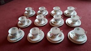 Royal Albert Flowers of the Month Complete Tea Set -  36 China Pieces.12 Trio's