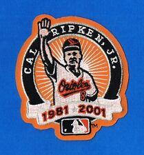 2001 Cal Ripken Jr Orioles Retirement Baseball AUTHENTIC Patch