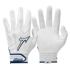 Brand NEW Original Youth Mizuno Covert Baseball BATTING Gloves White /Navy blue