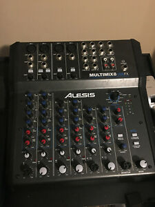 Alesis Multimix 8 USB FX Mixer Audio Interface with Power Cable