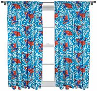 """Marvel Ultimate Spiderman 'Popart' Pleated Curtains 54"""" or 72"""" Drop"""