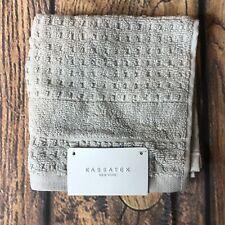 Kassatex New York Dolphin Grey Oeko-Tex Waffle Hammam Towel NWT
