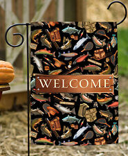 Toland Angler A-Lure Welcome 12.5 x 18 Outdoors Fishing Bass Salmon Garden Flag
