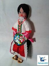 Vintage Mexican Folk Art Doll Hand Made in Mexico Rare