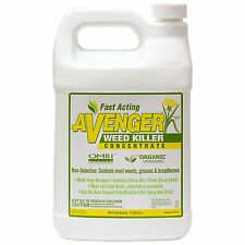 AVENGER Nontoxic Biodegradable Organic Weed Killer Concentrate 128oz (1 Gallon)