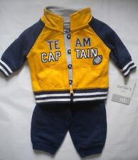 NEW WITH TAGS CARTERS NEWBORN  BOYS 3 PIECE OUTFIT SET S/S TOP PANTS JACKET