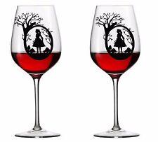 9 x Alice in Wonderland Vinyl Decal Wine Glass stickers