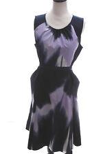 Tahari Womens Navy Blue Cotton Tie Dye Party Cocktail Dress Career Wedding 10