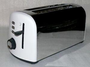 Breville Opula XXL Langschlitz Toaster 1500W Krümelfach Polish Edelstahl 42x20cm