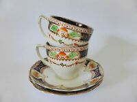 Pair of Chapmans Longton Standard China Antique Tea Cup and Saucer Duos