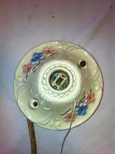 Vintage Porcelain rope pull cieling light fixture circa 1920s