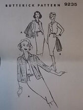 Uncut 50 S 60 S A tubino Camicia & Giacca Vintage Sewing Pattern Butterick 9235 B 32