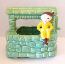 Vintage Pottery Planter Pixie Elf Sitting on the Side o