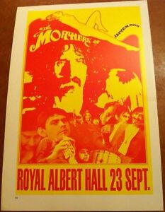 """Frank Zappa & The Mothers of Invention Vintage 2 Sided Vintage Poster 15x10"""" R62"""