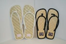 U PICK Montego BAY SANDALS Flip Flops White BLACK Tan Women SMALL or Large Sun