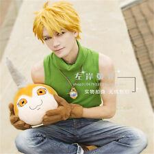 DIGITAL MONSTER Ishida Yamato Yellow Short Cosplay Party Wig Free Shipping