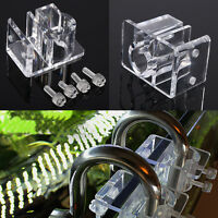 Fish Tank Filter Mount Tube Fixing Outflow Inflow Pipe Water Hose Clip Holder