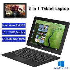 10.1Inch HD 32GB Tablet Computer PC Quad-Core Windows10 Movable Keyboard Laptop