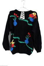 Jade Vintage 1980s Intarsia Knit Sweater Cotton Blend NWT