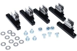 (Set of 5) Steel & Billet Aluminum Geo Tracker Suzuki Sidekick Soft Top Clips BK