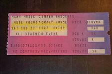NEIL YOUNG/CRAZY HORSE 1987 TICKET STUB MANN MUSIC CENTER PHILADELPHIA**8/22/87*
