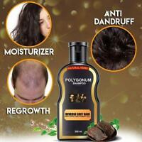 200ml Reverse Grey Hair Darkening Natural Polygonum Shampoo Women Men