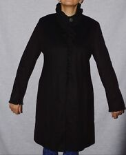 DKNY DONNA KARAN NEW YORK SZ 10 12 M MEDIUM BLACK WOOL BLEND COAT EXCELLENT