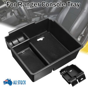 For 12-18 Ford Ranger PX2 PX3 Center Console Armrest Storage Tray + Rubber Mat