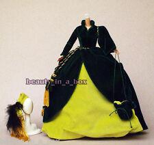 Scarlett O'Hara Timeless Treasures Barbie Doll Gone with the Wind Drapery Dress