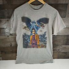 New listing Doctor Who Mens T-Shirt - 10th Doctor in a War Torn Field & Weeping Angel Size L
