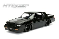 JADA 1:24 N/B FAST & FURIOUS DOM'S 1987 BUICK GRAND NATIONAL DIE-CAST BLK 99559