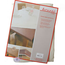 Inhabit Fitted Table Protector by Ladelle | White | 107x214cm Rec | Waterproof