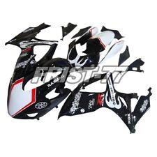 Racing Fairings Kits for Suzuki GSXR600 GSXR750 2006 2007 Covers K6 Black White