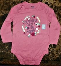 "NEW"" Baby Gap BEAUTIFUL MOMMY ~ Infant CREEPER BODYSUIT ~ Toddler 18M 24M Rose"