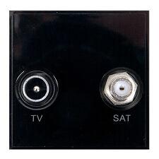 Triax Modular Blende Satellite Doppel TV/Sat Einsatz Modul schwarz