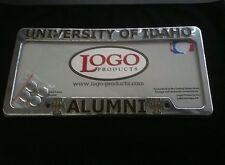 "License Plate Frame - U of IDAHO - ""ALUMNI"" - chrome plastic"