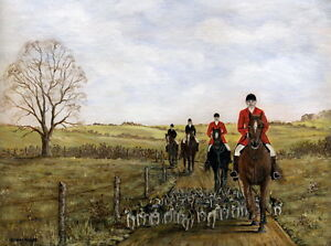 Morning Exercise Hunting Horse Ltd Edition Print - approx 16 x 12