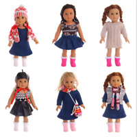 "Hot Handmade Sweater suit Accessories Fits 18"" Inch American Girl Doll Clothes"