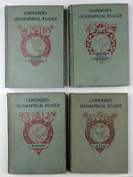 Carpenter's Geographical Reader, 4 Books N & S America,Europe, Asia 1897-1900 HC