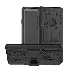 AMZER Hybrid Shockproof Warrior Kickstand Case For Samsung Galaxy A9 2018- Black