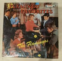 THE FLAMINGOS: FLAMINGO FAVORITES - VG 1960 DOO-WOP STILL IN SHRINK - LP