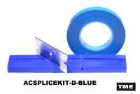"Splicing Kit Open Reel Audio With 1/4"" BLUE Splicing Block & Splicing Tape TME"