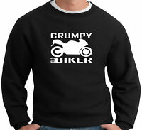 Grumpy Old Biker Mens Funny Sweatshirt For Bikers Motorbike Accessories Gifts