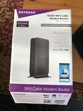 NETGEAR N300 WiFi Cable Modem Router 802.11n Gigabit 300Mbps