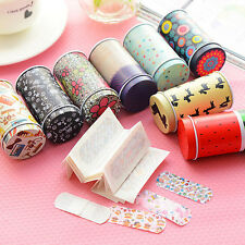Korea Cute Aartoon Waterproof Bandages Band-Aid Tin Breathable Hemostatic PasteD