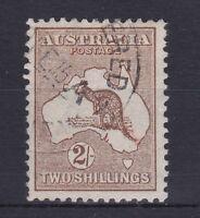 K701) Australia 1913 2/- Brown Kangaroo 1st wmk ACSC 35A